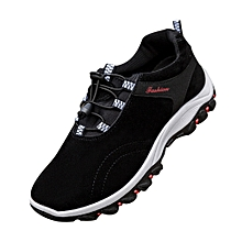 71acf5c04f Men's Outdoor Breathable Sneakers Athletic Casual Running Training Sports  Shoes-Black