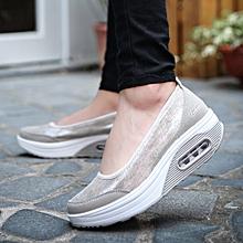 Generic Fashion Women Air cushion Platform Shoes Shake Shoes Slip Sport  Sneakers A1 e2773acf5b2