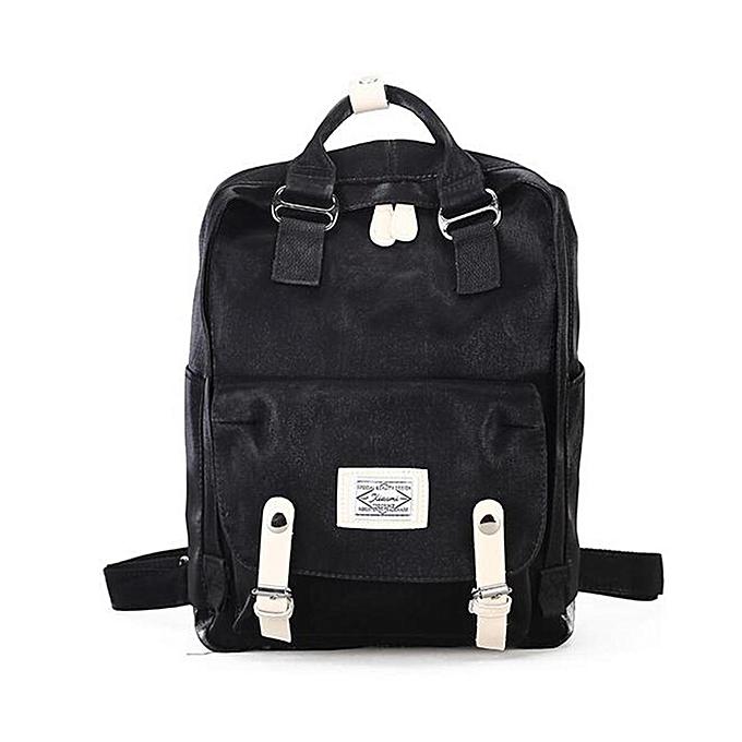 Fashion Fashion femmes Girl Backpack Travel Velvet Handbag Rucksack Shoulder School Bag noir à prix pas cher