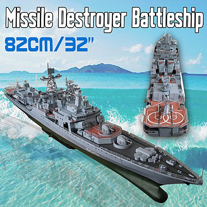 UNIVERSAL 1 200 Scale Battleship Warship Model Toy 82cm 32'' Long DIY Paper Model Kit à prix pas cher