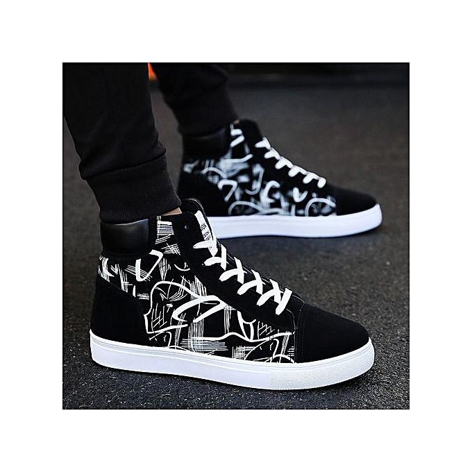 Generic chaussures hommes chaussures canvas chaussures hommes casual chaussures trend youth chaussures-noir à prix pas cher