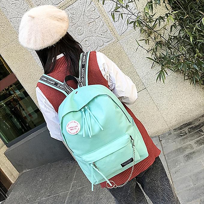 mode Tcetoctre Wohommes mode Candy Couleurs Letter Shoulder sacs sac à dos voyage sac à dos-vert à prix pas cher