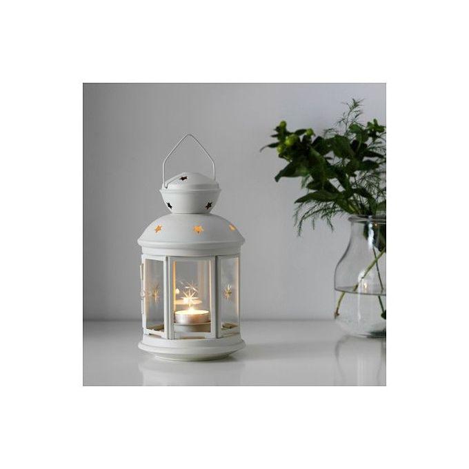 Bricolo porte bougie lanterne d corative blanc su de for Acheter maison suede