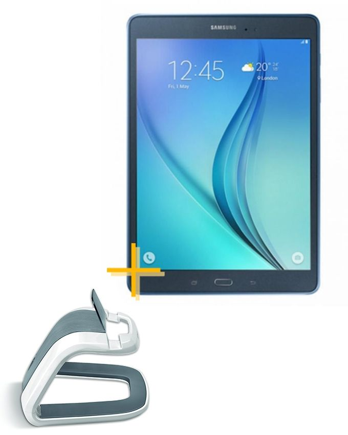 samsung galaxy tab a 2016 10 1 16 go 2 go ram bleu support pour tablette fellowes. Black Bedroom Furniture Sets. Home Design Ideas