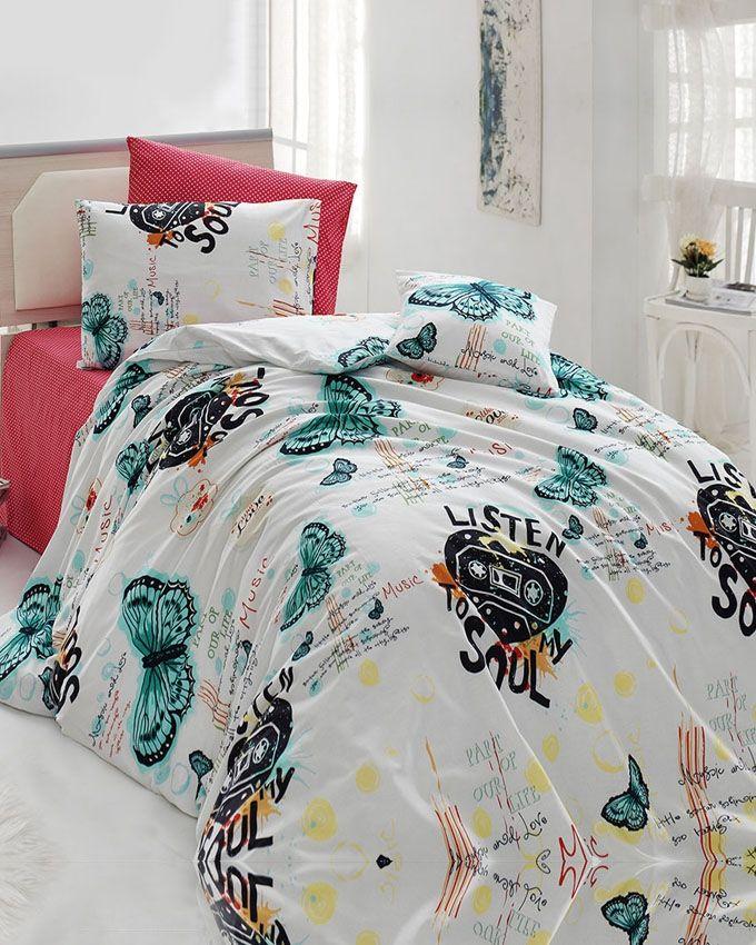 iklil housse de couette fantaisie coton 4 pi ces rouge acheter en ligne jumia maroc. Black Bedroom Furniture Sets. Home Design Ideas