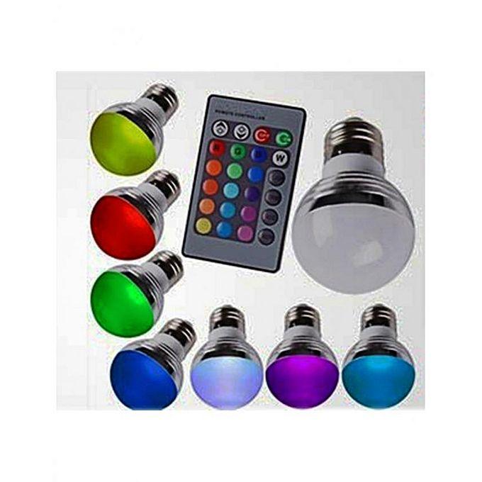 t deco ampoule led e27 multicouleur avec t l commande et 16 couleurs 3w acheter en ligne. Black Bedroom Furniture Sets. Home Design Ideas