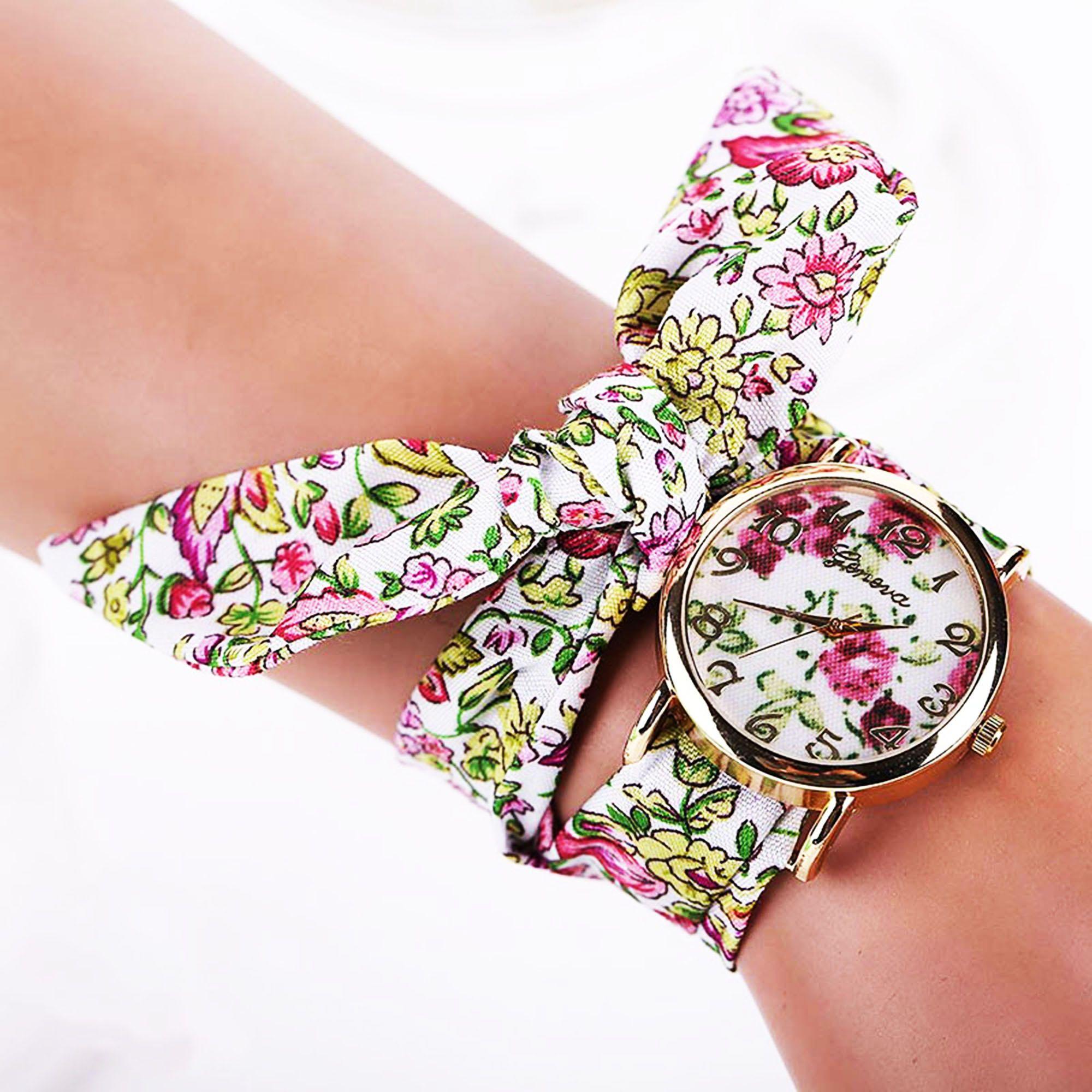 kimo watch montre avec bracelet en tissu floral multi couleurs acheter en ligne jumia maroc. Black Bedroom Furniture Sets. Home Design Ideas
