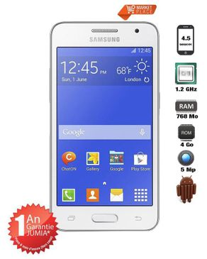 "Samsung GALAXY CORE 2 - 4 GO - écran 4.5"" - Blanc"