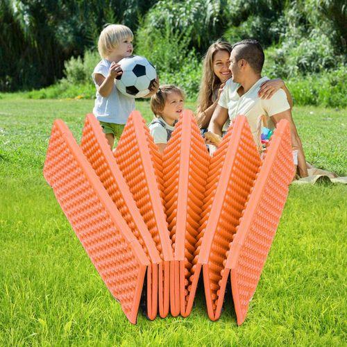 183 * 57 2cm Outdoor Folding Mat Picnic Pad Water Orange (Or