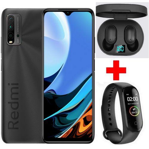 "Redmi 9T (4Go+128Go) 48MP 6000 mAh -FHD+ 6.53""-Snapdragon - Gris +Kit+ Band"
