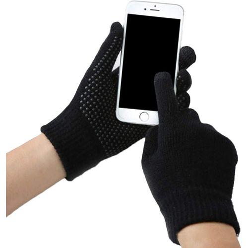 Gants Tactile Intelligents 2 en1 pour Ecrans Tactiles et contre froid - Homme et Femme + Crochet Gratuit - Noir