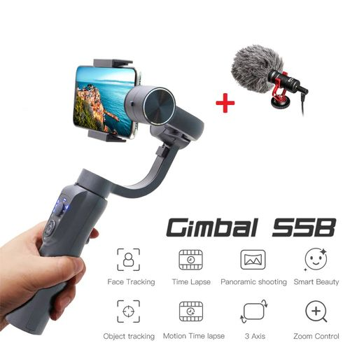 S5B stabilisateur de caméra d'action contrôle du Zoom iPhone 12 Samsung s21 Xiaomi Huawe Go Pro 9