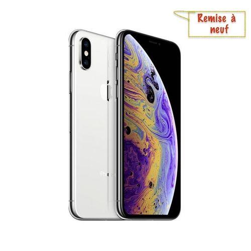 "iPhone XS, 5.8"", 64Go - Argent - Remise à neuf"