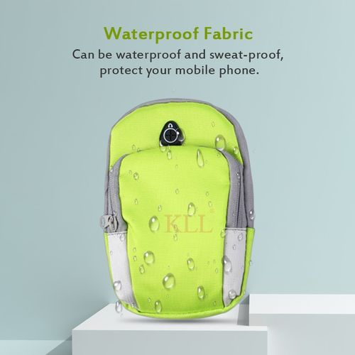 2PCS Outdoor Sports Running Armband Case Holder Waterproof Bag for smartphones below 5.5 inch(Green)