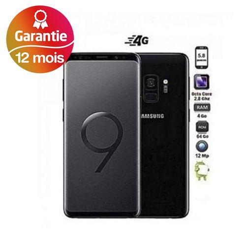 "Galaxy S9, 5.8"", 4Go, 64Go - Noir - Garantie 1 an"
