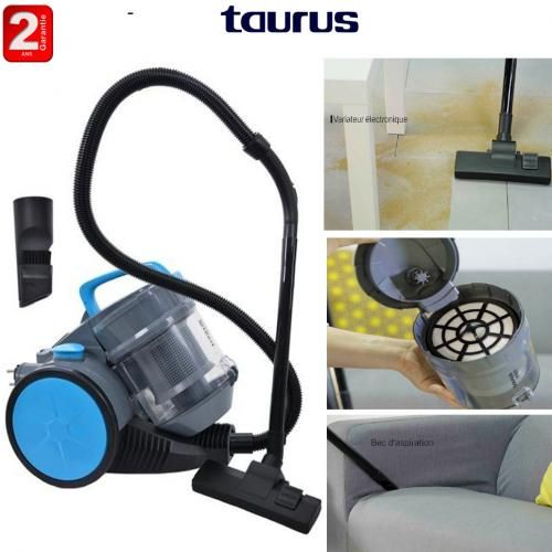 Taurus Aspirateur sans sac Spider 1400w-2 ans de garantie