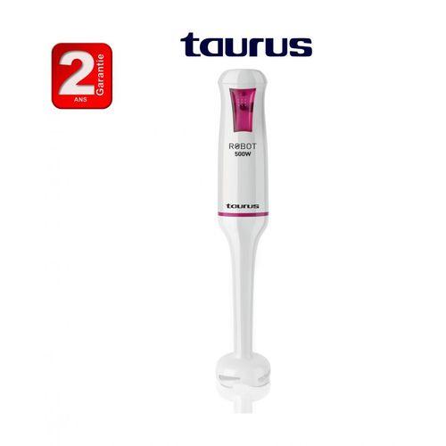 Taurus Robot Mixeur Plongeant 500W, lames en acier inoxydable, système anti-éclaboussures -2ans de garantie