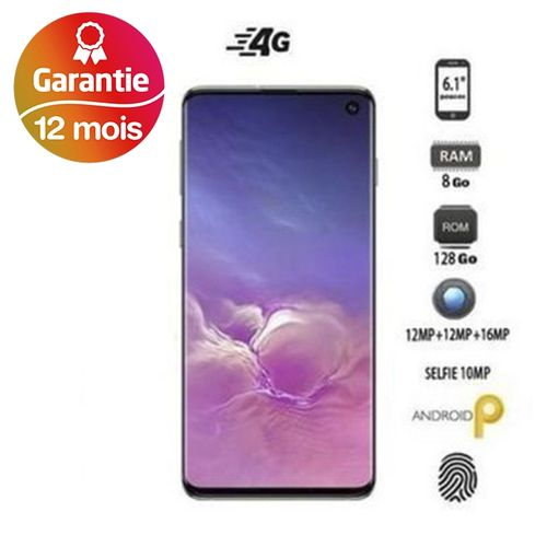 "Galaxy S10, 6.1"", 8Go, 128Go - Noir - Garantie 1 an"
