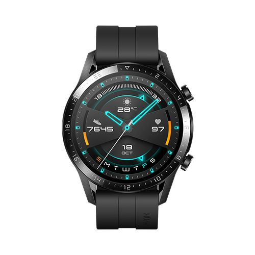 """WATCH GT2 - Montre Connectée 1.39"""" AMOLED GPS et GLONASS écran tactile Matte Black"""