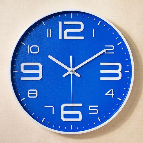 Generic Modern Glass Wall Clock Home Living Room Powered Hangin Blue à Prix Pas Cher Jumia Maroc