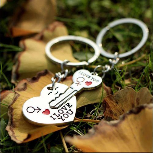 Porte-clés Coeur pour les couple Cadeau coeur amoureux