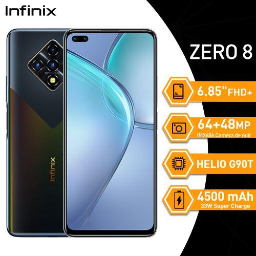 "Zero 8 6.85"" FHD+ (8GB/128GB) 64MP+8MP+2MP+2MP/48MP+8MP Android 10 - Noir Étier"