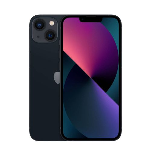 iPhone 13 ( 128Go, 4Go ) Minuit ( Noir ) / 1 an de Garantie