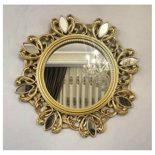Miroir doré -55/55cm-