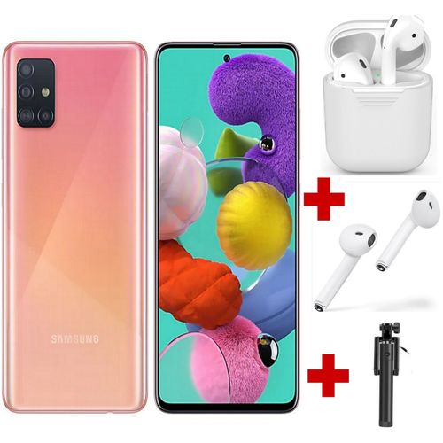 Galaxy A51 - 6.5'' - (6GB - 128GB) - Android10.0 - 4G - 48MP-Rose - KIT i100