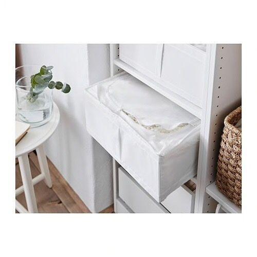 Ikea Boîte de rangement, blanc, 44x55x19 cm à prix pas cher   Jumia Maroc