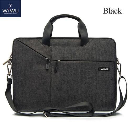 Laptop Bag Case 17.3 15.6 15.4 14.1 13.3 Messenger Bags for MacBook Air 13 Case Waterproof Notebook Bag for MacBook Pro 15(Black)(fukela)