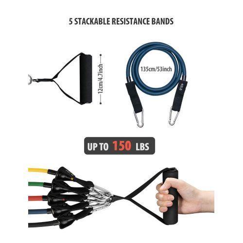 résistance à 150 LBS - Kit de Bandes Élastique Fitness
