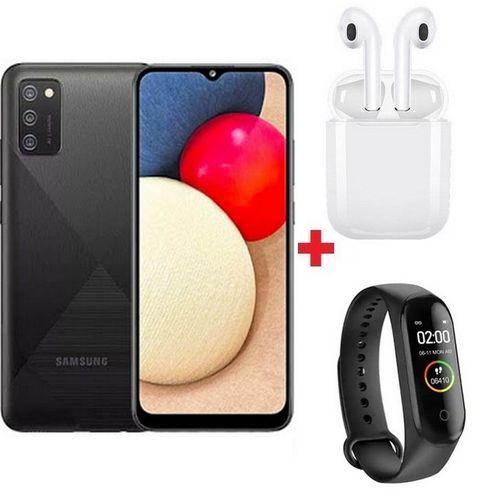 "Galaxy A03s 6.5""HD+ - 13MP - 4G + 64GB - 5,000mAh - Noir + Band + Écouteur"