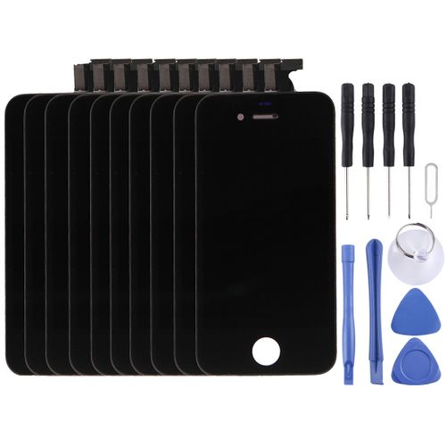 10 PCS Digitizerembly (LCD + Frame + Touch Pad) for iPhone 4S(Noir)