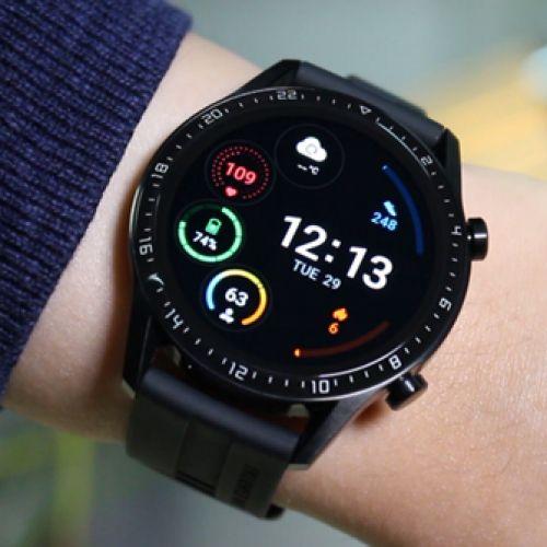 """Watch GT 2- Montre Connectée 1.39"""" AMOLED GPS et GLONASS écran tactile Matte Black, boîtier 46 mm"""