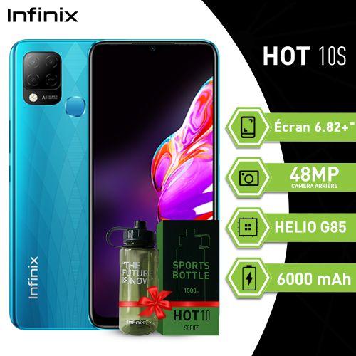 "Hot 10S (4GB+128GB)/48MP/6.82""HD+/Helio G85/6000mAh/océan + Sports Bottle 1500ml"