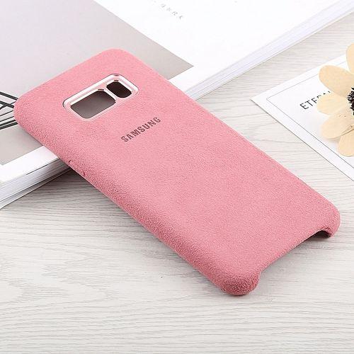 Samsung Cover Alcantara haut gamme pour Galaxy S8 Plus - Pink