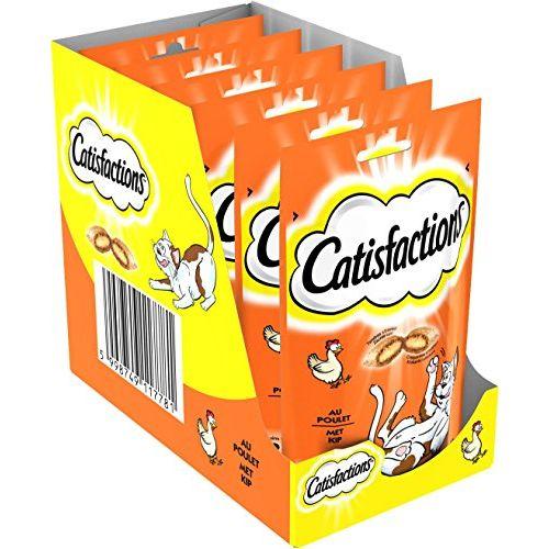 CATISFACTION Friandises pour chat au poulet 60g x 6