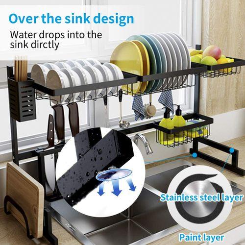 Brian Égouttoir à vaisselle sur évier pour fournitures de cuisine en acier inoxydable