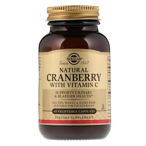 Solgar Canneberge naturelle, Avec vitamine C, 60 gélules végétales