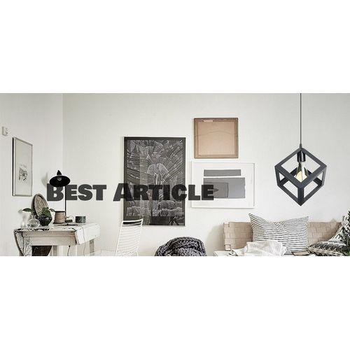 Lustre suspension noir vintage luminaire cube + ampoule edison led offerte