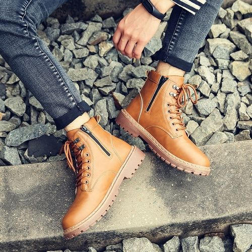 Autre Men's  up British Shoes Pu Martin Boots