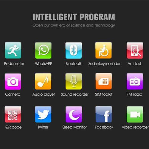 Montre intelligente Carte SIM TF Montre Android et IOS