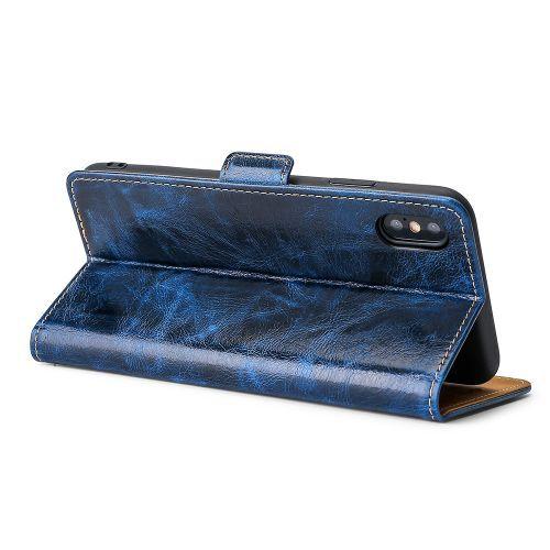 Autre Oppo Realme 5s/Realme5i/Realme 6i Leather Phone Case Cover - Blue