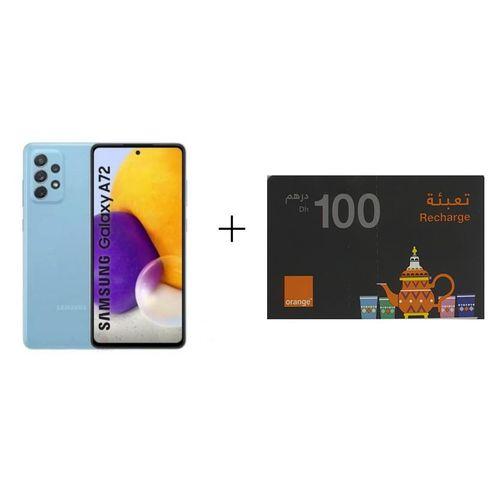 "Galaxy A72 8 GB + 256 GB 6.7"" Bleu+recharge 100dh orange"