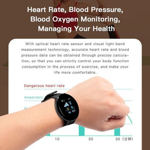 D18 Smart Sports Watch Surveillance De La Fréquence Cardiaque Du Sommeil