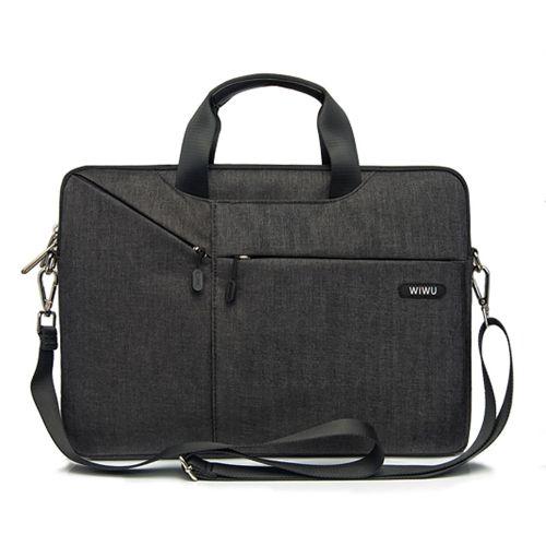 Laptop Bag Case 12 13 15.4 15.6 17.3 Messenger Bags for MacBook Air 13 Case Waterproof Notebook Bag for MacBook Pro 15(Gray)(fukela)