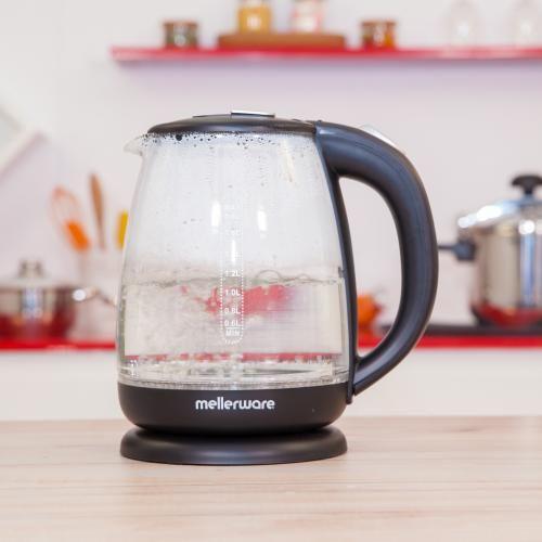 Mellerware Bouilloire en verre cristal 2001 1.8L rotation à 360° 1800W – 2 ans de garantie