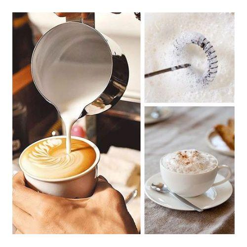 Mini mélangeur de café électrique à main en acier inoxydable -Mixeur mousseur à lait// fouet mélangeur du crème // batteur à oeufs