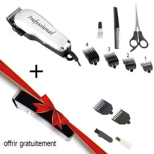 tondeuse cheveux professionnelle avec accessoire + tondeuse rechargeable gratuit 4.1 out of 5
